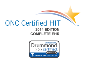 ONC Certification HIT 2014 Edition Complete EHR